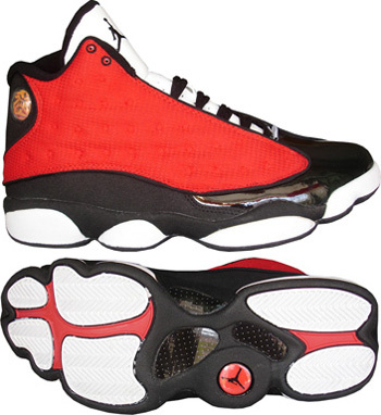 Newest Air Jordans 13 Classic Red White Black