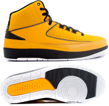 Newest Air Jordans 2 Classic Yellow Chrome Shoes