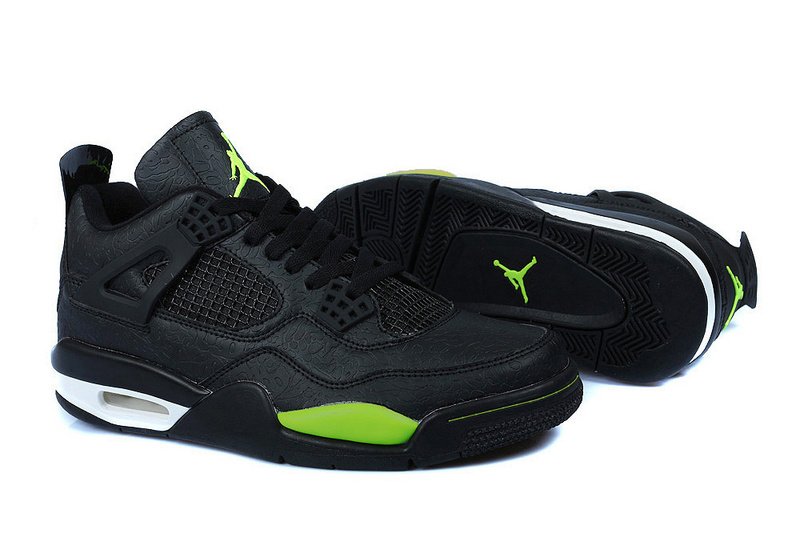 Newest Air Jordans 4 Temporal Rift by Color Retro Black Green