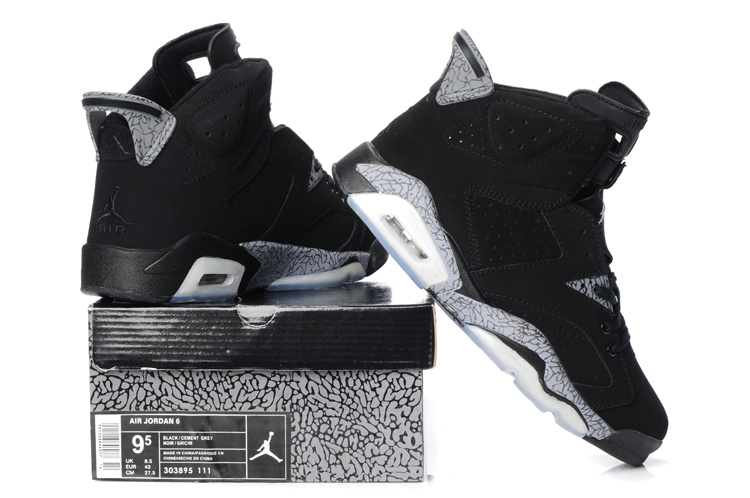 Newest Air Jordans Classic 6 Black Grey_06