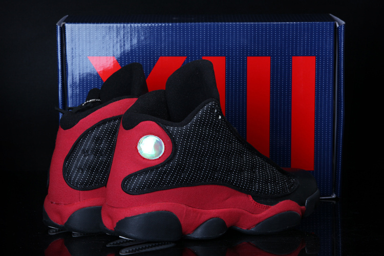 Newest Cool Summer Air Jordan 13 Classic Black Red