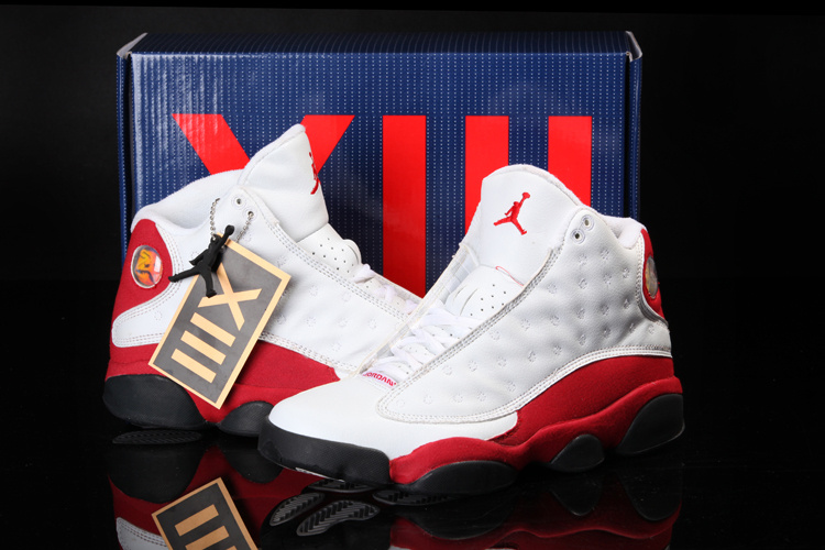 Newest Cool Summer Jordans 13Classic White Red_13