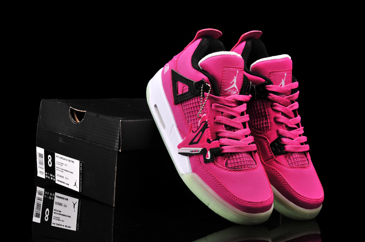 Newest Jordan 4 Midnigh Pink Classic Black White For Women