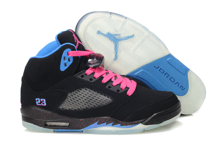 Newest Jordan 5 South Beach Edition Classic Black Pink Blue For Women