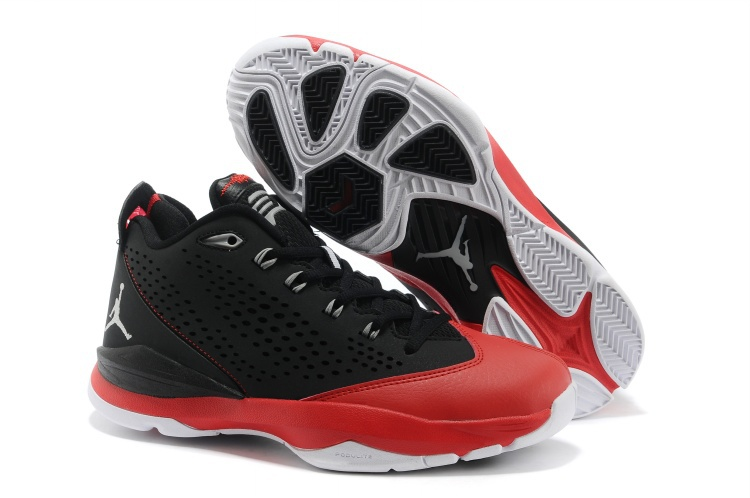 Newest Jordan CP3 7 Retro Black White Red Basketball Shoes_07