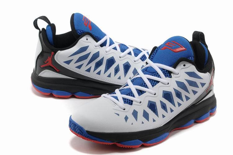 Newest Jordan CP3 VI Classic White Blue Red Home Clippers Basketball Shoes