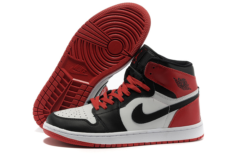Newest Jordans 1 High Black White Red