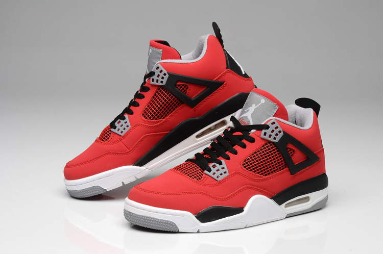 Newest Jordans 4 Bulls Retro Colors Red White Black