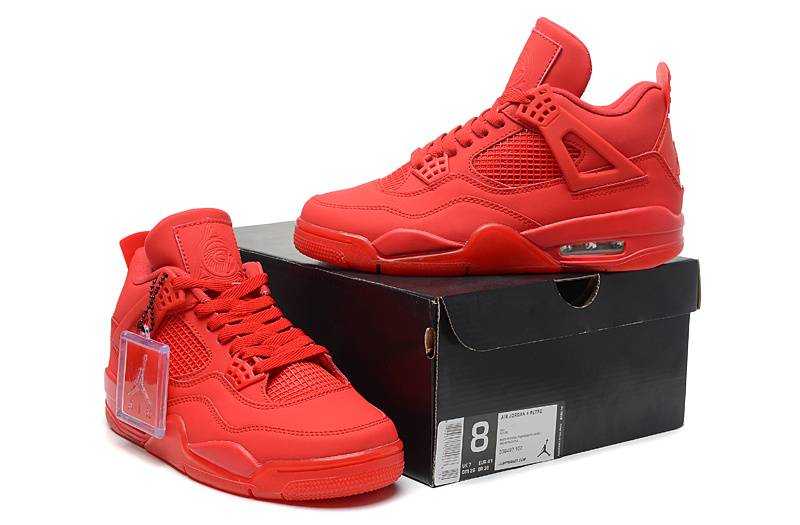 Newest Jordans 4 Classic All Red