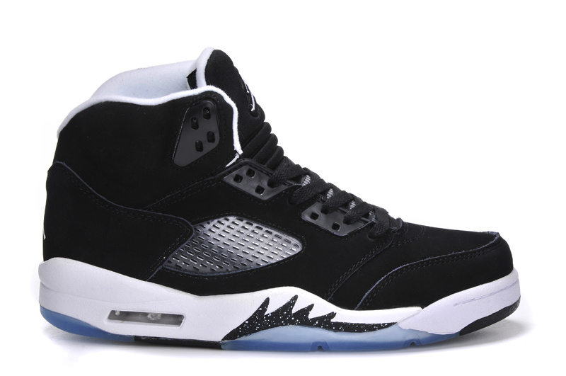 Newest Jordans 5 Original Black White
