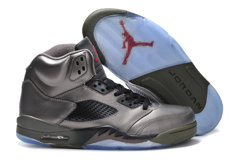 Newest Jordans 5 Original Grey Black