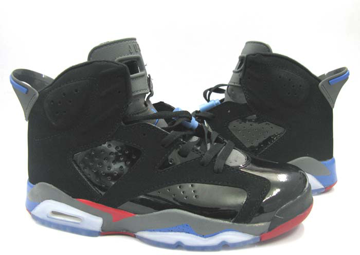 Newest Jordans 6 Classic Black Red Grey White_06