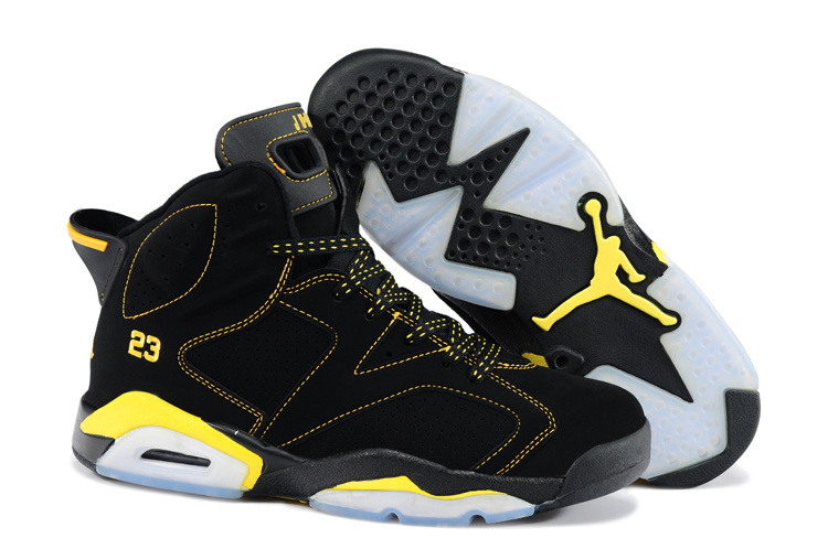 Newest Jordans 6 Original Black Yellow_06