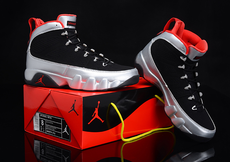 Newest Jordans 9 Reissue Kilroys Classic Black Silver Red