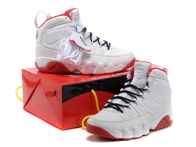 Newest Jordans 9 Retro White Red