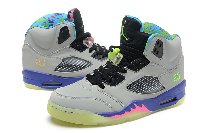 Newest Mandarin Duck Jordan 5 Midnight Edition Retro Grey Black Purple