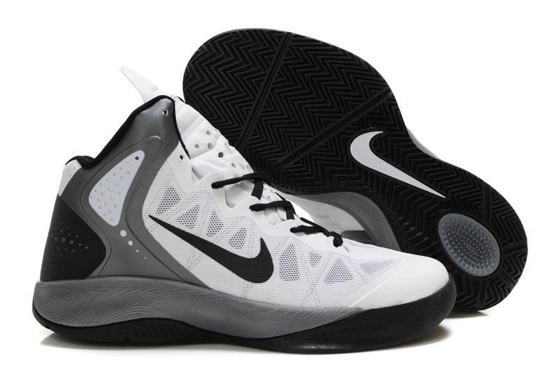 Newest Nike Blake Griffin 2 Original White Black Grey Shoes