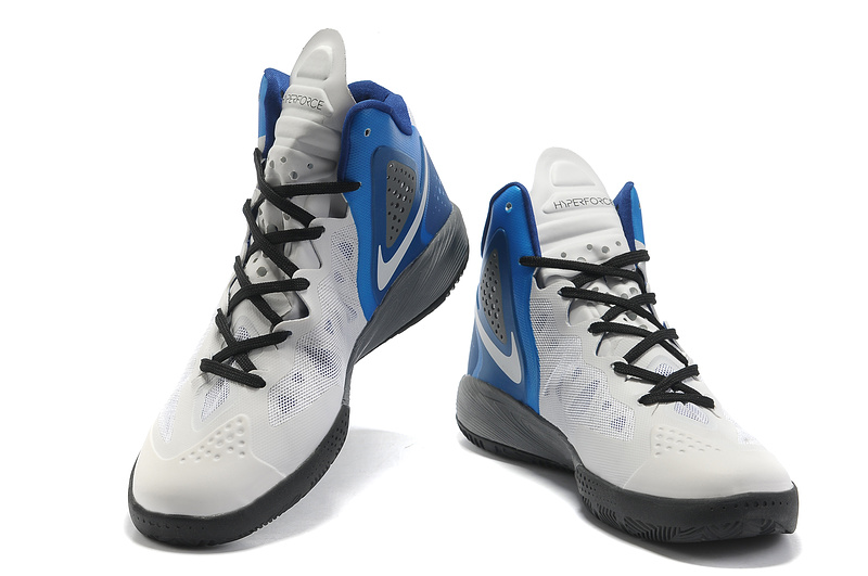 Newest Nike Blake Griffin 2 Retro White Grey Blue Shoes
