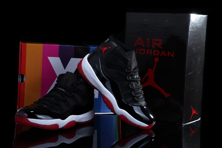 Newest Rainbow Package Air Jordan 11 Concord Classic Black White Red