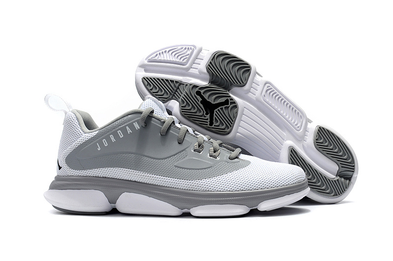 Newly Jordans 2017 WHite Grey Basketball Shoes