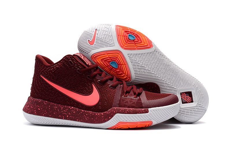 Newly Kyrie 3 Wine Red Shoes For Sale