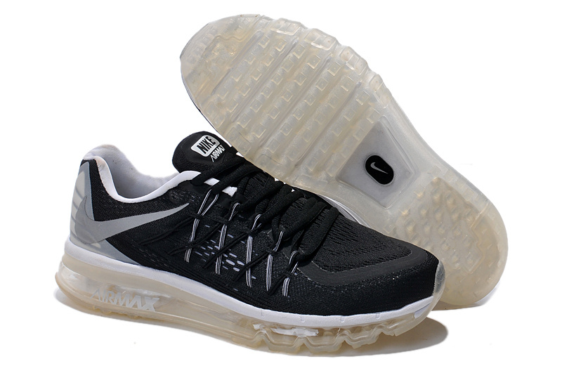 Newly 2015 Air Max Black White For Men Runnings