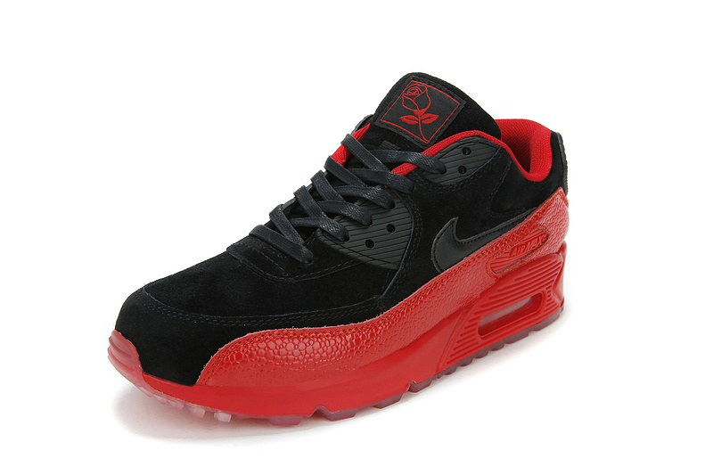 Newly Nike 90 Air Max Red Black Running Shoes