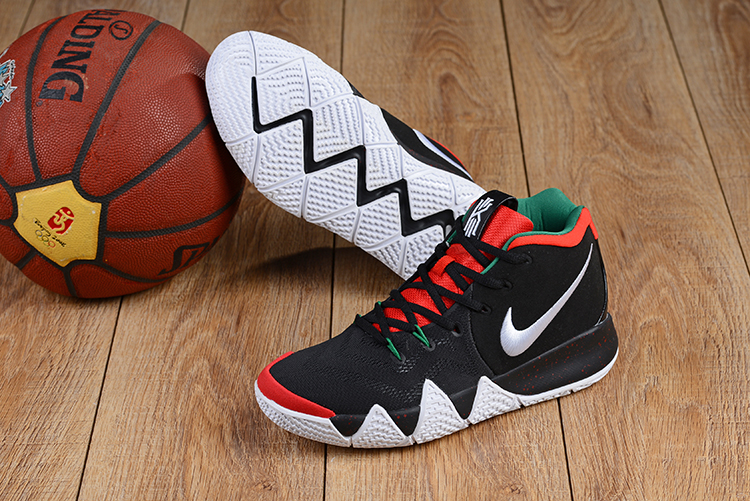 2018 Nike Kyrie 4 Black Red Green Shoes For Sale