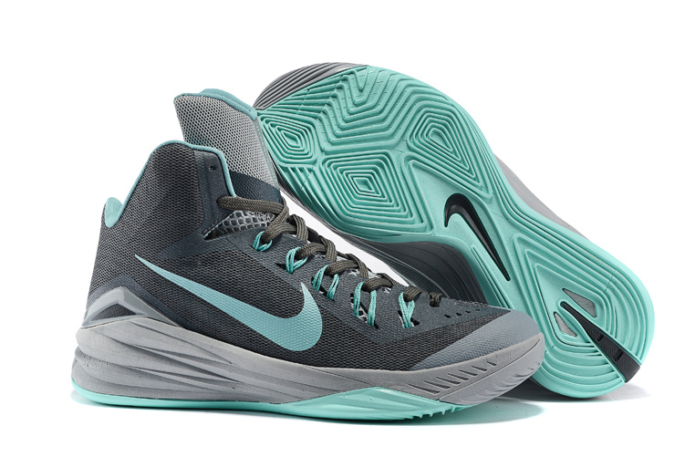 Nike Hyperdunk 2014 XDR High Black Green Grey Basketball Shoes