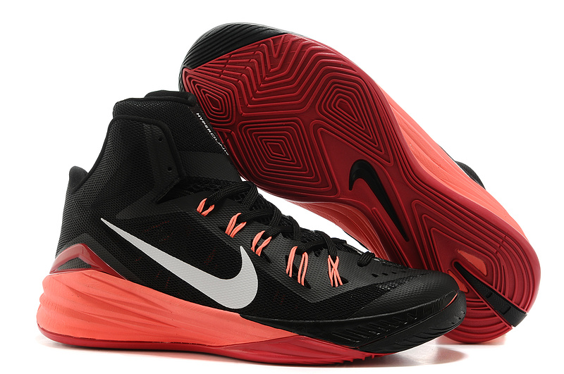 Nike Hyperdunk 2014 XDR High Black Light Red White Basketball Shoes