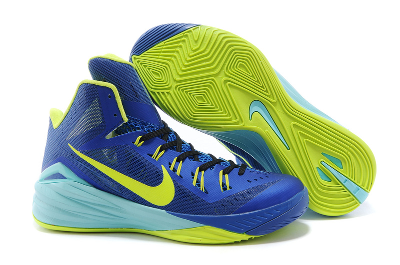 Nike Hyperdunk 2014 XDR High Blue Yellow Basketball Shoes