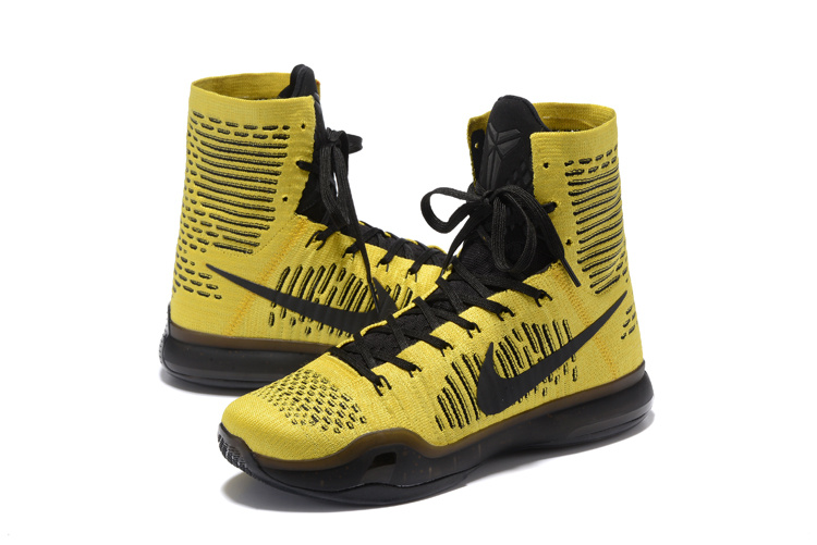 Nike KObe 10 High Yellow Black Basketball Shoes