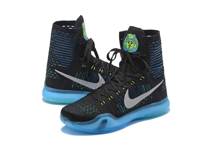 Nike Kobe 10 High Black Blue Basketball Shoes