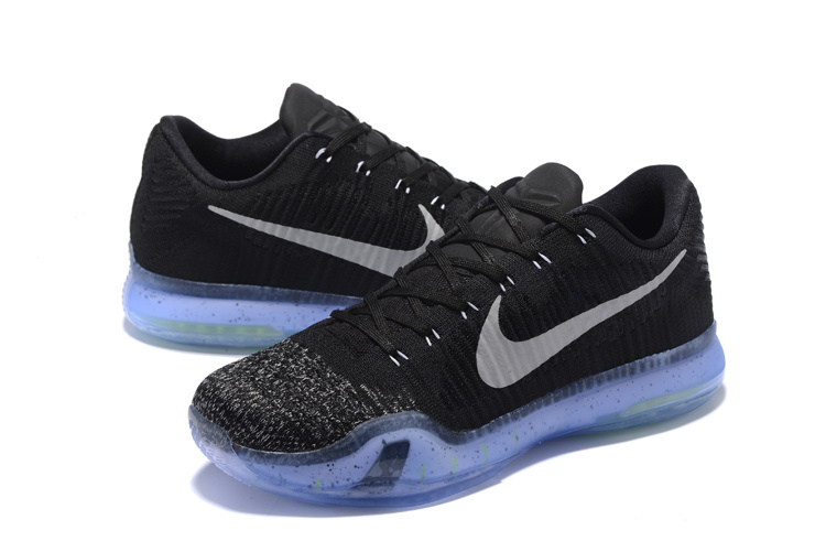 Nike Kobe 10 Low Black Grey Blue Basketball Shoes