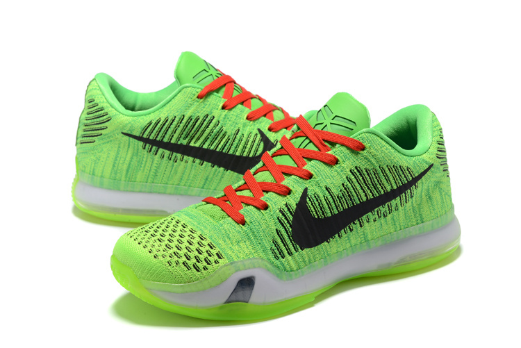 Nike Kobe 10 Low Green Black Basketball Shoes