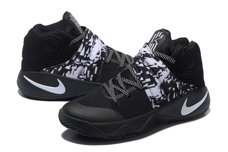 Nike Kyrie 2 Black White Basketball Shoes For Sale