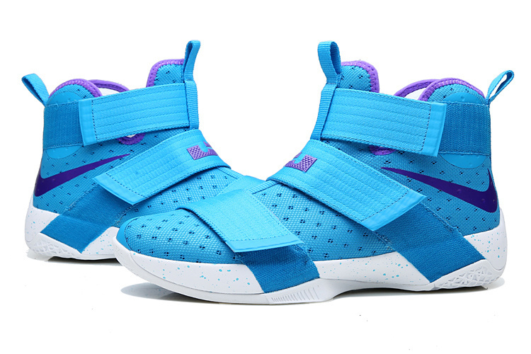 Lebron Solider 10 Purple Moom Basketball Shoes