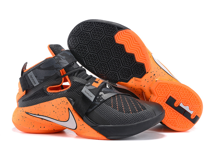 New Nike Solider 9 Black Orange Basketball Shoes