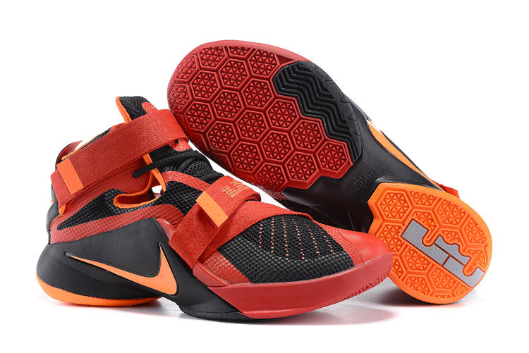 New Nike Solider 9 Black Red Basketball Shoes