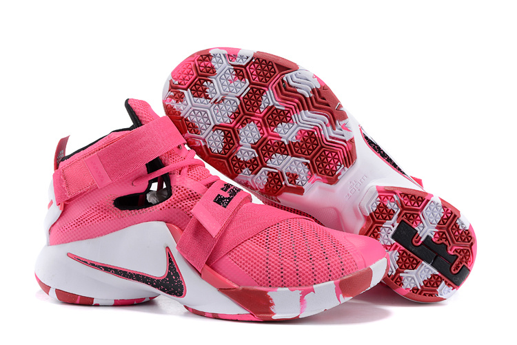 New Nike Solider 9 Breast Cancer Pink Basketball Shoes