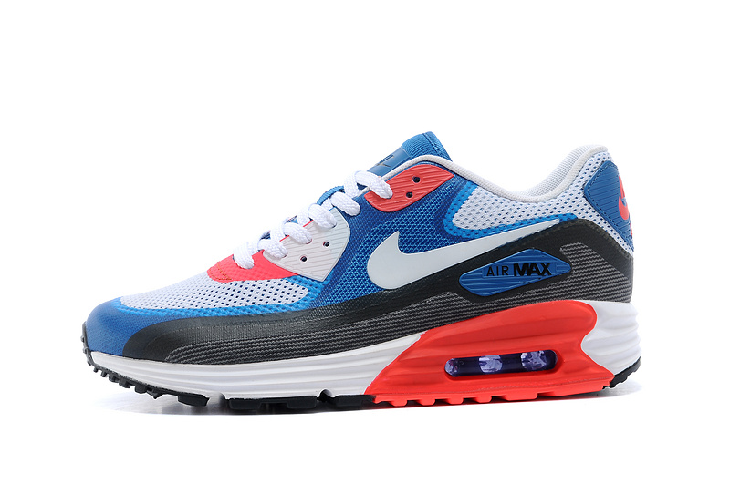 Nike 25th Anniversary Air Max 90 Black Blue Red Men Running Shoes