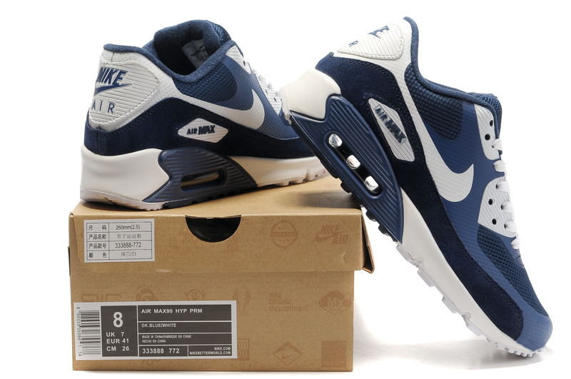 Nike 90S Air Max Blue Black White Running Shoes