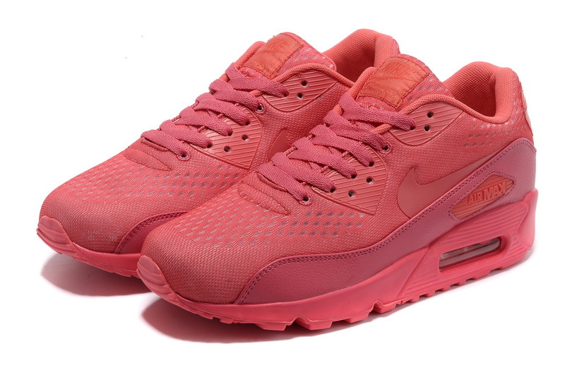 Nike Air Max 90 Premium Red Women Runnings Shoes