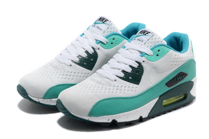 Nike Air Max 90 Premium White Blue Black Women Runnings Shoes