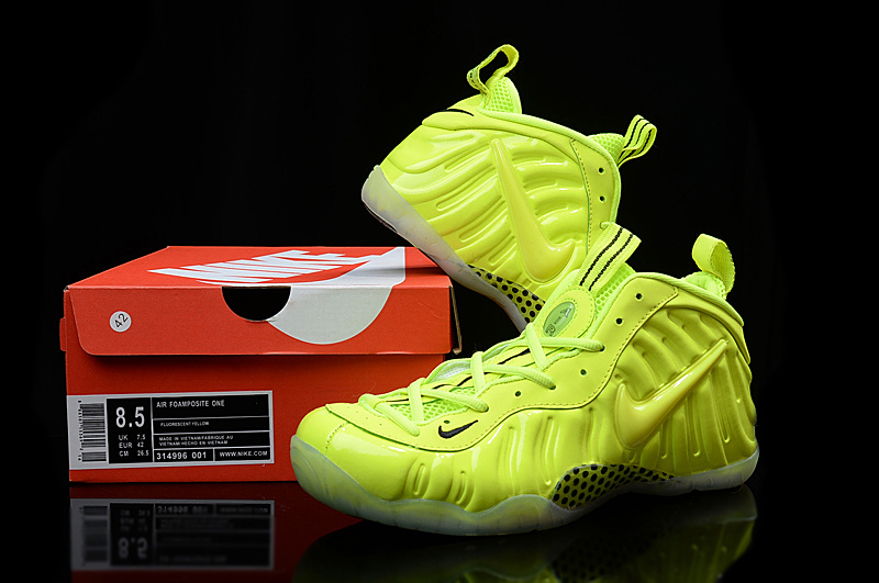 New Nike Air Foamposite Penny All Fluorscent Green Sneaker
