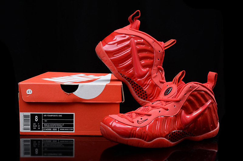New Nike Air Foamposite Penny All Red Sneaker