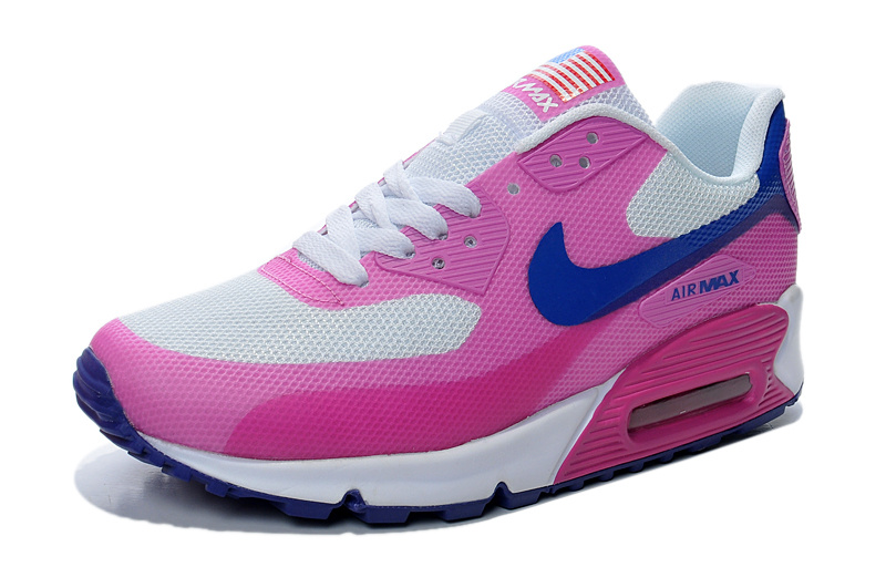 Nike Air Max 90 Flag White Pink Women Running Shoes