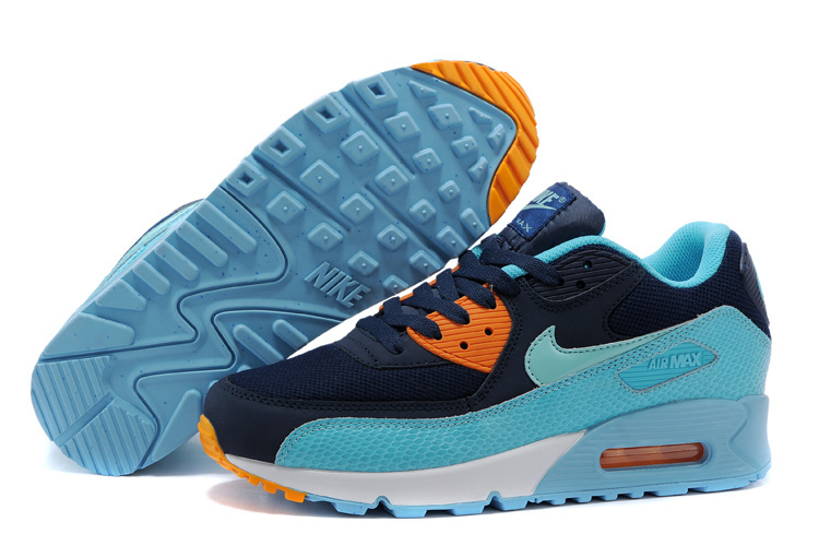 Nike Air Max 90 Black Blue Lovers Running Shoes