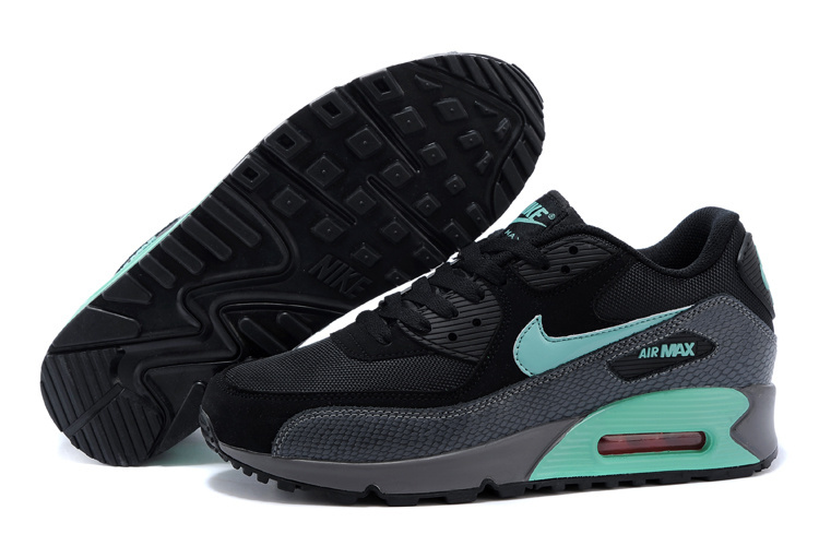 Nike Air Max 90 Black Green Lovers Running Shoes