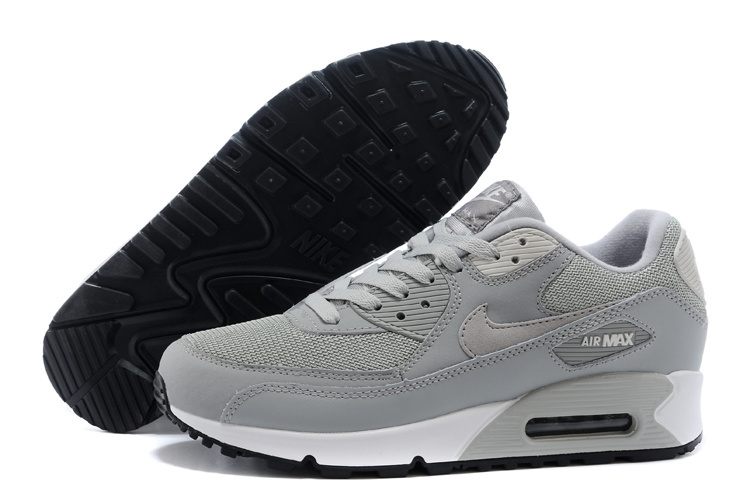 Nike Air Max 90 Men Grey White Running Shoes